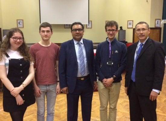 Faisal Rashid MP visits Appleton College