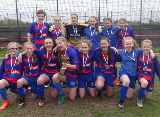 U14 Girls' Football – Cheshire Champions!